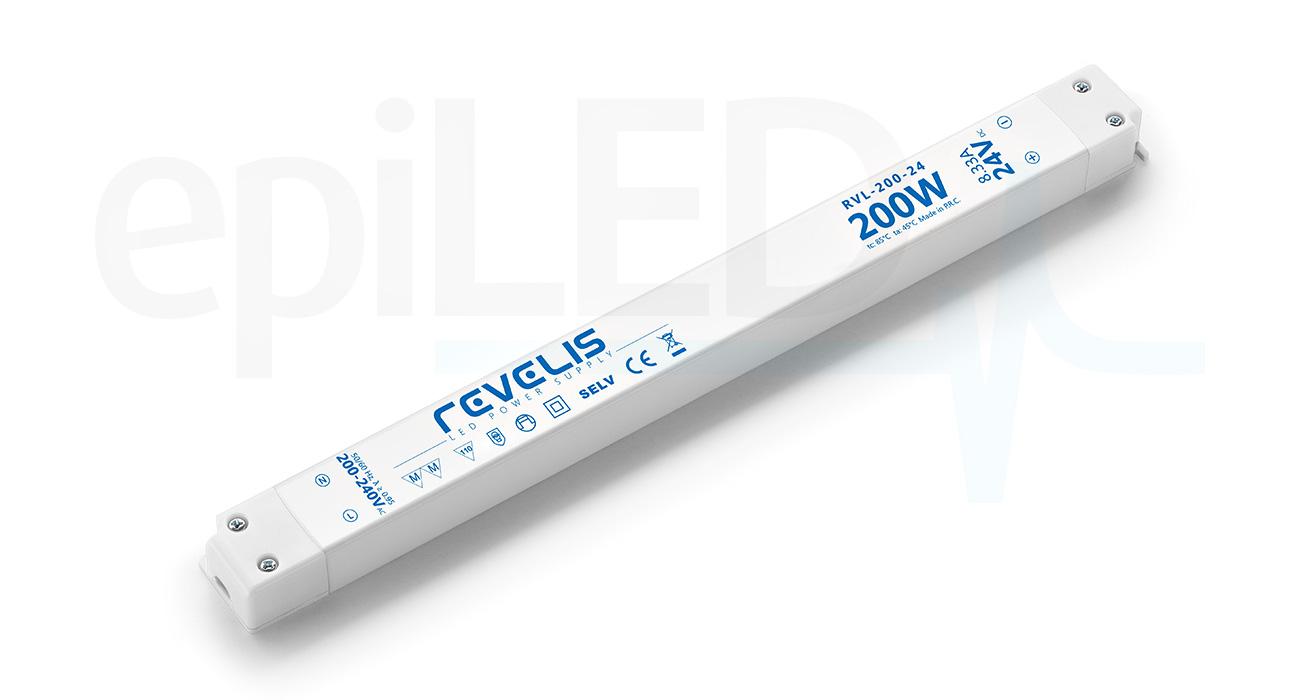 Super Slim Power Supply Revelis RVL-200-24